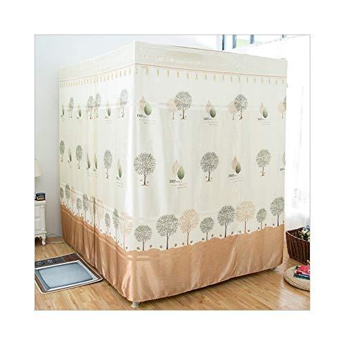 JINHONGH Moskitonetz Palace-Stil dreitürigen Moskitonetz Schattierung Vorhang 1.5m Bold Edelstahlhalterung geeignet für Schlafzimmer (Farbe : Beige, Size : 120CM)