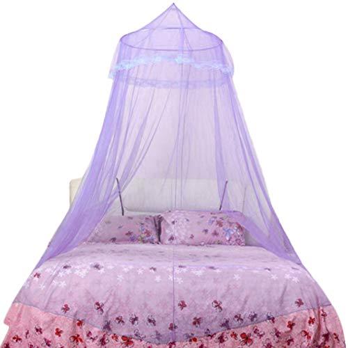 lindahaot Europäische Prinzessin Dome Moskitonetz Decke hängend Court Erwachsener Baby-Schlafzimmer Doppelbett Lace Canopy - Baldachin Möbel Schlafzimmer