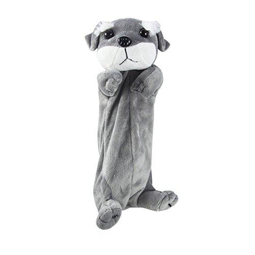 Bleistift-Kasten, Cartoon Hund geformt Plüsch Tier-Bleistift-Beutel, Großraum-Multifunktions-Verfassungs-Kosmetik-Beutel Aufbewahrung Box School Supplies (Cartoon-bleistift-kasten)