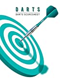 Darts Scoresheet: Darts Game Record Keeper Book, Darts Score Sheet, Darts Score Card, Darts Score Sheet has space record scores for everybody favorite pub game, Size 8.5 x 11 Inch, 100 Pages