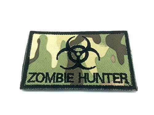 Patch Nation Zombie Hunter Multicam Camo Gestickte Airsoft Klettverschluss-Flecken -