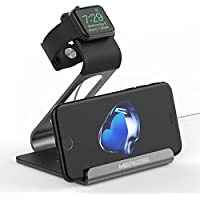 Support Apple watch, Mercase Station de Charge pour iWatch [en Mode Table de Nuit], Dock de Chargement pour Apple Watch Series 3/2/1 (42mm 38mm) avec l'angle stable iPhone x 8 7 Samsung et iPad, iPod, Tablette-Gris