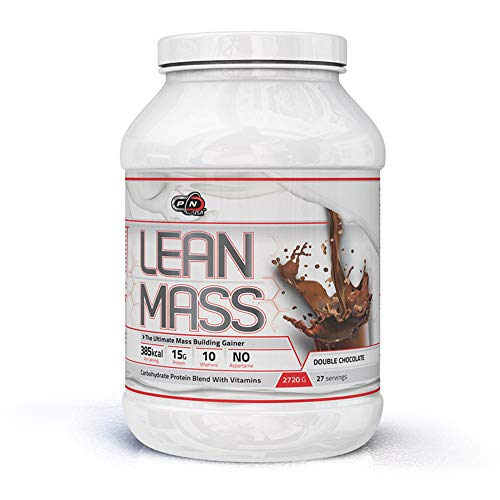 Lean Gainer (Pure Nutrition LEAN MASSe Weight Gainer Protein Pulver|Kohlenhydrat Whey Komplex 10 Vitamine|Muskelaufbau Masseaufbau Massephase Eiweiß|Chocolate Schoko Cookies Cream|9|27|45 Dosen|Deutsche Qualität)