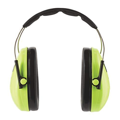 3m cuffie antirumore peltor kid/cuffie auricolari otoprotettori per bambini da 1 a 8 anni – attenuazione del rumore 27 db, protezione fino a 98 db, archetto regolabile, peso 140 gr, colore verde
