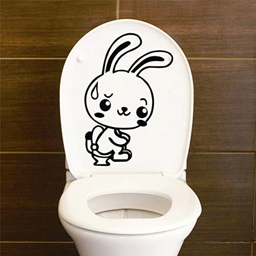 EXQART Etiqueta de la Pared DIY Animal Carton Rabbit Divertido Asiento de Inodoro WC baño Arte Vinilo hogar calcomanías decoración Pared Pegatina Decorativo Mural Papel Pintado
