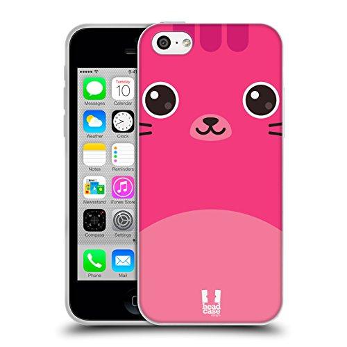 Head Case Designs Gatto Nero E Rosa Gatti A Pois Cover Morbida In Gel Per Apple iPhone 7 Plus / 8 Plus Gatto