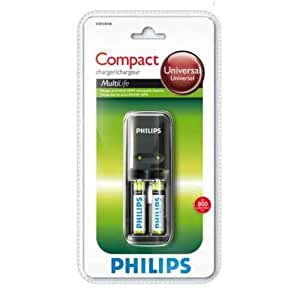 Philips SCB1235NB MultiLife Chargeur d'accus compact 170 mA