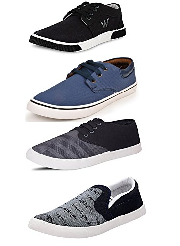 Scatchite Pack Of 4 Footwear (Sneakers & Casual Shoes & Loafers &...