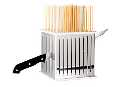 Cubo fabbrica spiedini arrosticini kebab barbecue tagliaspiedini in acciaio inox