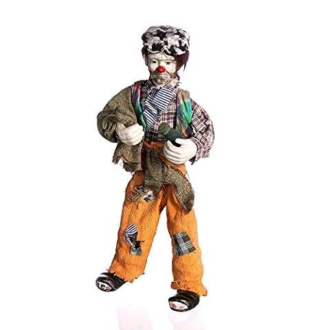 Clown En Porcelaine - Discount ethnique–Clown en porcelaine. Mesure