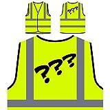 Questions Comic Vintage Funny Nouveauté Veste de Protection Jaune personnalisée à Haute visibilité d705v