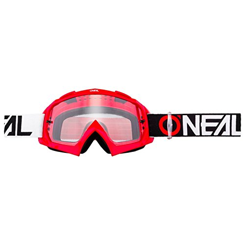 O'Neal B-10 Goggle Twoface Crossbrille Klar Motocross DH Downhill MX Anti-Fog Glas, 6024-21, Farbe rot
