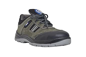Allen Cooper 1156 Men's Safety Shoe, Size-6 UK, Gray