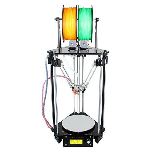 Geeetech Delta Rostock Mini Imprimante 3D multi couleur à assembler soi-même, double tête d'extrusion système d'auto nivellement Imprimante 3D de bureau.