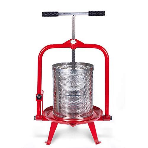 Cider, Wein, Trauben, Obst Presse, für Apple Cider, Wein und Saft macht, zu wählen Größe von montimax 14 Liter (3.75 Gallon) rot