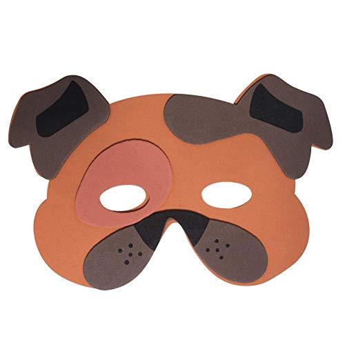 Werbewas 1x Schaumstoff Masken mit Hund Klein Tiermotiv - als Karnevals, Halloween, Geburtstags-Party Kostüm (Hund Halloween Maske)
