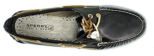 Sperry Sperry A/O 2-Eye Leather sahara 9155240, Chaussures basses femme BLACK PATENT