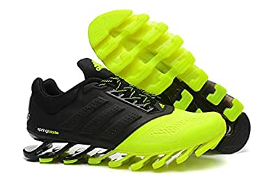 online store 15d0a 8e8e6 ... Adidas Men s neon green and Black Mesh Springblade Drive Running Shoes  -8uk