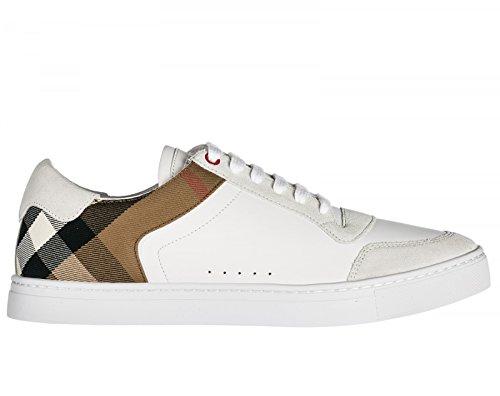 BURBERRY , Herren Sneaker Weiß Bianco + Check, Weiß - Bianco + Check - Größe: 40 EU - 6 UK