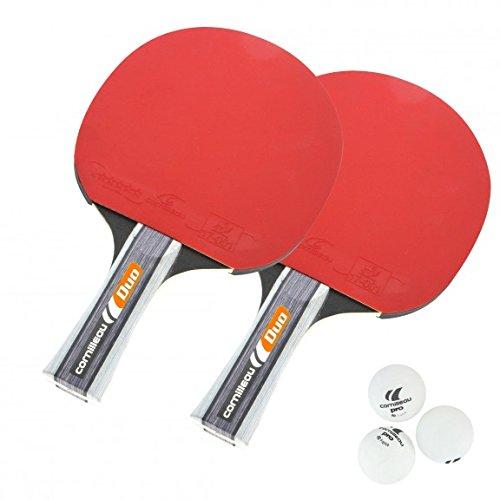 cornilleau-lot-de-2-raquettes-balles-3-rouge