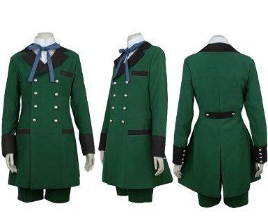 FashionM Black Butler Ciel Phantomhive Cosplay Kostüm, Damen Mädchen Jugend Herren Jungen, grün, ()
