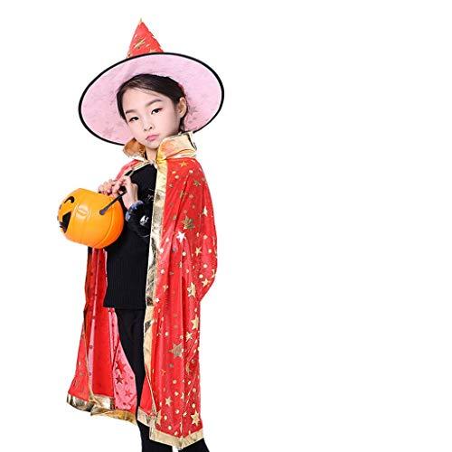HS-ZM-06 Halloween-Mantelhuthexenkostüm Cosplay Kostümjungen-Mädchenmagier Belichtet Zombiemaskeradeshow-Zombie-Parteimantel,5