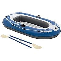 Sevylor Caravelle - Barca hinchable (2 personas), color blanco y azul