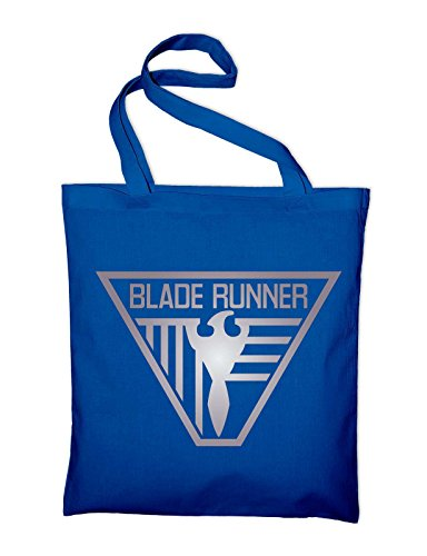 Blade Runner Logo Jutebeutel, Beutel, Stoffbeutel, Baumwolltasche, maroon Royalblau