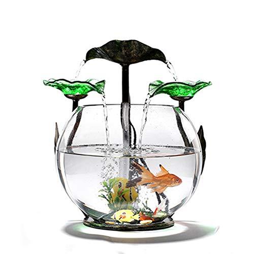 MC.PIG Aquarium Fischbecken Kreative Glas Aquarium Wasser Ornamente Wohnzimmer Schreibtisch Oberfläche Europäischen Kleine Brunnen Luftbefeuchter Eröffnungsfeier Geschenk Umzug
