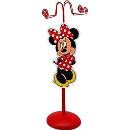 Disney 91005 – Minnie Portacollane con Figura in Legno in Confezione Regalo, 11x11x28 cm