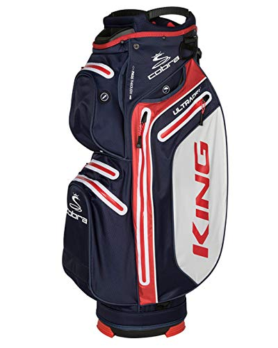 Cobra 2018 King Dry Tech Wasserdicht Golf Cartbag Blau/Weiß/Rot -