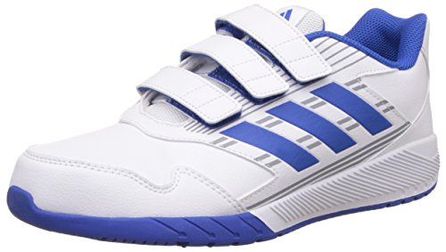 adidas Altarun Cloudfoam, Chaussures de Running Mixte Enfant Blanc (Footwear White/blue/mid Grey)