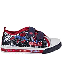 Baskets Sneakers Enfants LED Chaussures Lumineuse Spiderman