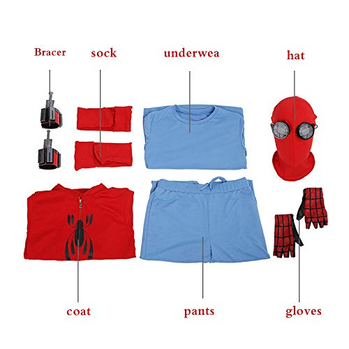SHANGN Erwachsene Kinder Halloween Kostüm Film Cosplay Superheld Spiderman Theme Party Kostüm Rollenspiel,Adult-M