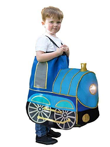 Fancy Me Kinder Ride on Light Up & Sound Dampflok Karneval Kostüm Kostüm Outfit (Light Up Kostüm Kind)