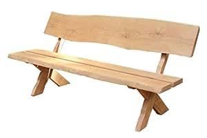 Rustikale hochwertige Gartenbank aus Massivholz 180 cm | Handgemachte Gartenbank | Made in Germany | aus stabilem Eichenholz | Sitzbank Holz wetterfest als 3 Sitzer | als Gartenmöbel oder Parkbank