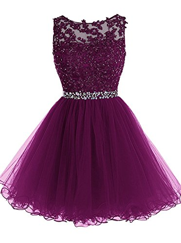 Cloverbridal Kurze Tülle Homecoming Dress Mini Ball- Kleid Cocktailkleider