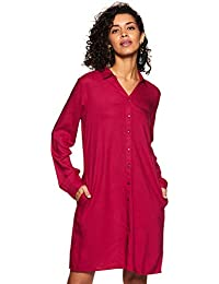 Amazon Brand - Eden & Ivy Women's Shirt Midi Dress