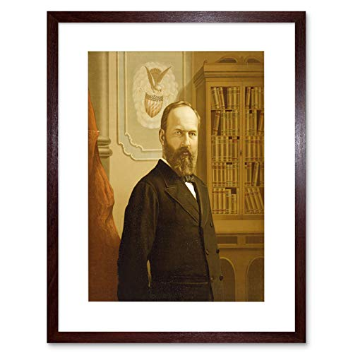 PAINTINGS PORTRAIT PRESIDENT JAMES GARFIELD ASSASSINATED FRAMED PRINT B12X10969