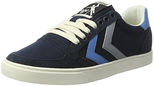 Hummel Unisex-Erwachsene Sl Stadil Duo Canvas Low Top Blau (Total Eclipse)