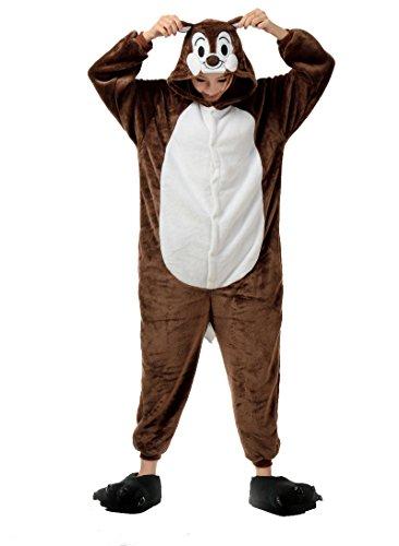mpsuit Eichhörnchen Abend Kleider Pyjamas Siamesische Kleidung Party Cosplay Set L (Halloween-kostüme Für Teenager-mädchen Beste Freunde)