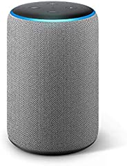 Echo Plus (2nd Gen) – Premium sound, powered by Dolby, built-in Smart Home hub (Grey)