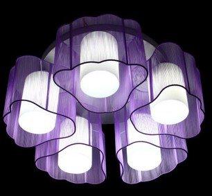 Gebürstete Deckenlampe lila/silber/pink Schlafzimmerlampe Dekoration Beleuchtung Wohnzimmerlampe 1638 lila