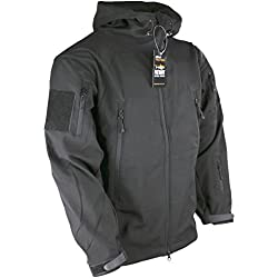 Kombat UK Men's Patriot Soft Shell Jacket, Black, 2X-Large