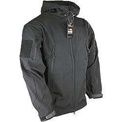Kombat UK Men's Patriot Soft Shell Jacket, Black, 2X-Large