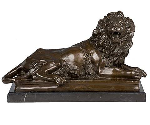Toperkin Lion Pair Statue Right Figurine Animals Home Decor Bronze Sculptures TPY-388