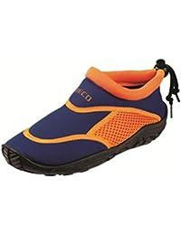 Beco Enfant Unisexe Plage Piscine Bain Antidérapant Chaussures de chaussures bleu/orange