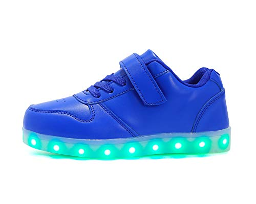 Cliont Zapatillas 7 Colors USB Carga LED Luz Luminosas Flash Zapatos de...