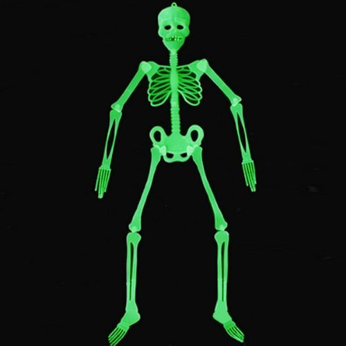 Water & wood halloween props luminous skeleton party bars glow in the dark hanging decoration (90cm)