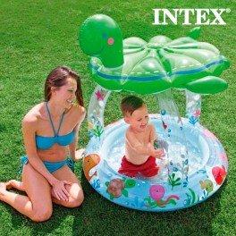 Piscine Gonflable avec Parasol Tortue Intex